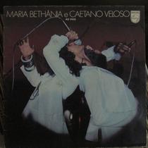 Lp Maria Bethânia E Caetano Veloso Ao Vivo Capa Dupla 1978