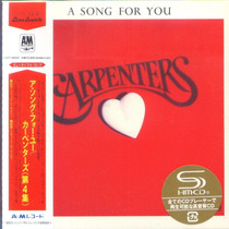 Carpenters A Song For You - Mini Lp Shm-cd Japonês Raridade
