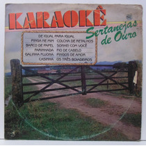 Lp Karaokê - Sertanejas De Ouro - 1987 - Brasidisc