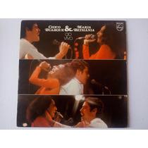 Lp Chico Buarque E Maria Bethânia - Ao Vivo - Encarte - 1975