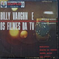 Billy Vaughn - Bonanza - Peter Gunn - Ro Compacto Vinil Raro