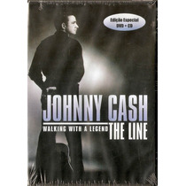 Dvd+cd Johnny Cash - Walking With A Legend The Line - Novo**