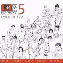 Cd Mtv Ao Vivo 5 Bandas De Rock Lacrado Com Nota Fiscal