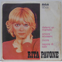 Compacto Vinil Rita Pavone - Datemi Un Martello - 1975 - Rca