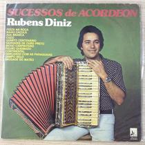 Lp Rubens Diniz Sucessos De Acordeom (raridade)