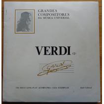 Grandes Compositores Da Música Editora Abril Lp Verdi