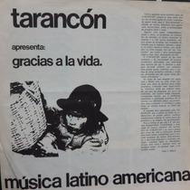 Lp - Grupo Tarancon - Gracias A La Vida Vinil Raro