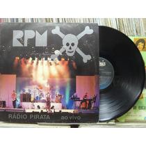 Rpm Revoluções Por Minuto Radio Pirata Ao Vivo Lp Encarte