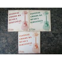 Cds Jornal Extra- Fes. Amigos Da Música Sertaneja Vols:1;2;4