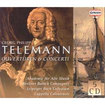 Cd Box Georg Philipp Telemann - Ouvertures & Concerti 5cd