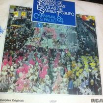 Lp Enredo Carnaval Sao Paulo 1984 Samba Paulista Raiz Antigo