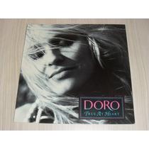 Lp Doro - True At Heart 1991 (vinil Alemão) Warlock