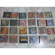 Lote De Vários Cds E Dvds De Rock E Metal