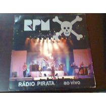 Lp Rpm - Radia Pirata. Ao Vivo. Com Encarte.