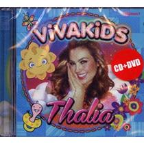 Thalia Viva Kids Vol.1 Novo Lacrado Cd + Dvd Set 2014