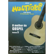 Dvd Multiokê Cd+ Dvd - O Melhor Do Gospel Vol 5 - Novo***