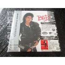 Michael Jackson : Bad ~ Cd Mini Lp Vinil Réplica Japonês Obi