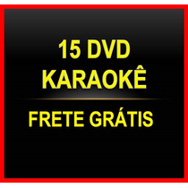 15 Dvds Karaokê Musicas Pop Rock,sertanejo Mpb Frete Grátis