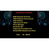 16500 Playbacks E 4250 Videokes Promoção Em Hd 500 Gb