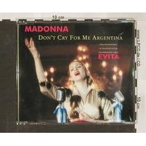 Cd-single-madonna-don´t Cry For Me Argentina-em Otimo Estado