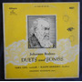 Joannes Brahms Duets And Songs - Lp Vinil 10 Polegadas
