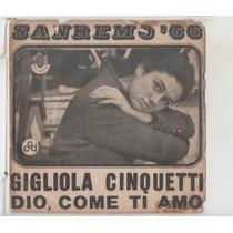 Compacto Vinil Gigliola Cinquetti - San Remo 66 - Dio, Come