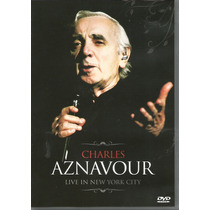 Dvd - Charles Aznavour - Live In New York City - Lacrado