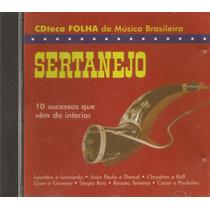Cd Cdteca Folha Da Música Brasileira - Sertanejo