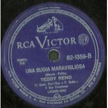 Disco Rotação 78 - Teddy Reno - Ragazzina - Una Bugia Maravi