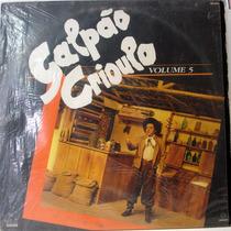 Vinil/lp - Galpão Crioulo - Volume 5 - 1988