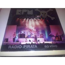 Lp Rpm-rádio Pirata Ao Vivo C/encarte Ótimo !