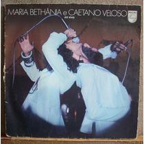 Vinil Lp Maria Bethania E Caetano Veloso- Ao Vivo-capa Dupla
