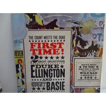 Lp Duke Ellington & Count Basie- Selo Cbs - Nacional