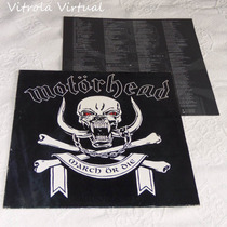 Lp Motorhead March Or Die 1992 Nacional Epic