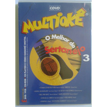 Cd E Dvd Multiokê O Melhor Do Sertanejo 3 (original)