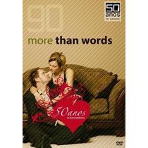 Dvd 90 More Than Words - 50 Anos De Musica Romantica