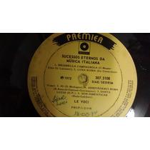 Disco Vinil Lp - Sucessos Eternos Da Musica Italiana 1972