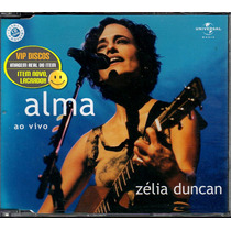 Zelia Duncan Cd Single Alma Ao Vivo - Raro