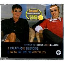 Fagner E Zeca Baleiro Cd Single Com Video Clipe - Raro