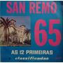 Lp Disco De Vinil San Remo 65 As 12 Primeiras Classificadas
