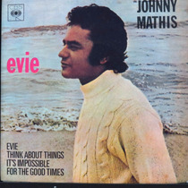 Johnny Mathis Evie Think About Things It Compacto Vinil Raro