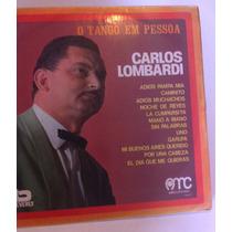 Carlos Lombardi Lp Vinil De Tango Homenagem A Gardel Bom Est
