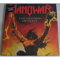 Manowar The Triumph Of Steel 2 Lp Hail Kings Louder Sign