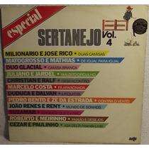 Lp / Vinil Sertanejo: Especial Sertanejo Vol.4 - 1986