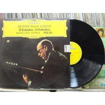 Narciso Yepes Violão 12 Estudos Villa Lobos Lp 1972 Stereo
