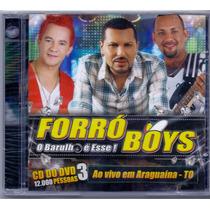 Cd Forró Boys - Cd Do Dvd 3 - Novo***