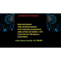 16400 Playbacks E 4150 Videokes Promoção Em Hd 500 Gb