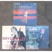 Lote Com 3 Lps Vinil Ray Conniff E Zamfir - Usados