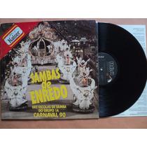 Sambas De Enredo- Lp Carnaval 89- 1990- Original- Encarte!