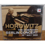 Cd Horowitz The Legendary Berlin Concert 1986 Piano Clássico